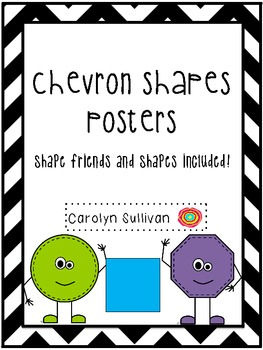 Chevron Shapes Posters with Shape Friends!