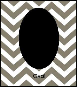 Chevron Shapes Silhouettes Flashcards