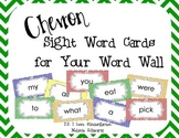 Chevron Sight Word Cards