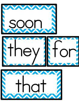 Kindergarten Chevron Sight Word Wall Display Aligned to Journeys 2014
