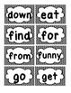 Chevron Sight Words ~ Pre-primer, Primer, Color, and Number Words