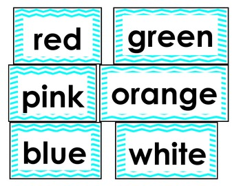 Chevron Sight/Star Words for Word Walls
