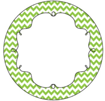 Chevron Sign, Pennant and Label Kit - Editable!