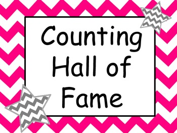 Chevron Skip Counting Hall of Fame Incentive Signs with Matching Awards