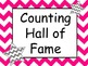 Chevron Skip Counting Hall of Fame Incentive Signs with Ma