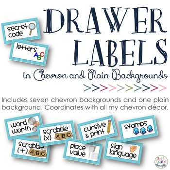 Small Drawer Labels: Chevron