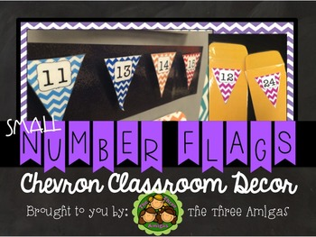 Chevron Small Number Flags