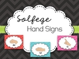 Chevron Solfege Hand Sign Posters