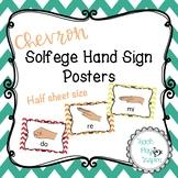 Solfege Curwen Hand Sign Posters - Chevron - Half sheet size