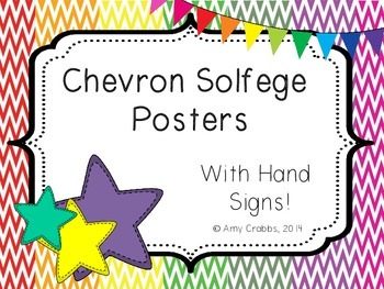 Chevron Solfege Posters with Hand Signs