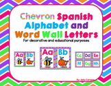 Chevron Spanish Alphabet Print, Cursive, With and Without Words, and Word Wall