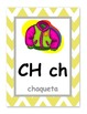 Chevron Spanish Alphabet Wall Posters