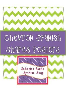 Chevron Spanish Shapes Posters