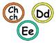 Chevron Spanish or English Word Wall Labels