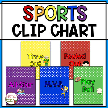 Sports Themed Behavior Chart - 5 sections