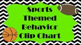 Chevron Sports Themed Behavior Clip Chart and Classroom Rules