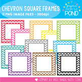 A Rainbow of Chevron Square Borders