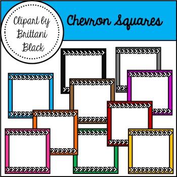 Chevron Squares Clipart
