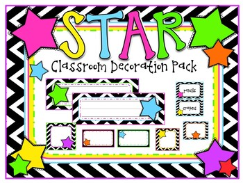 Chevron Star Theme Classroom Decoration Pack