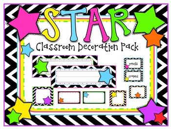 Chevron Star Theme Classroom Decoration Pack