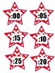Chevron Stars Alphabet Cut Outs and Time Cut Outs
