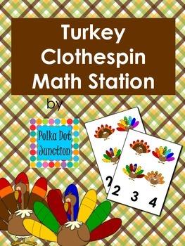 Turkey Clothespin Math Station
