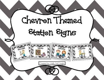 Chevron Station Signs