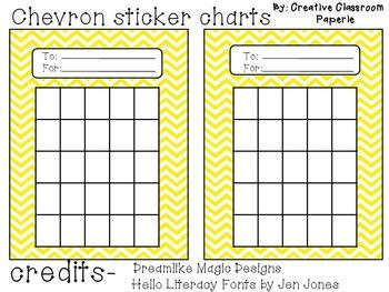 Chevron Sticker Charts