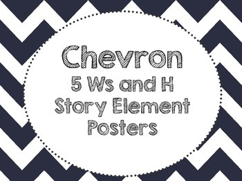 Chevron Story Element Posters