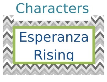 Chevron Story Elements Esperanza Rising