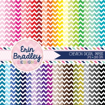 Chevron Stripes Digital Paper Bundle