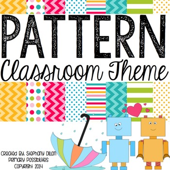 Chevron, Stripes, & Polka Dot Theme Classroom Packet