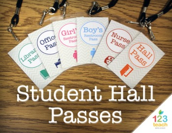 Chevron Student Hall Passes