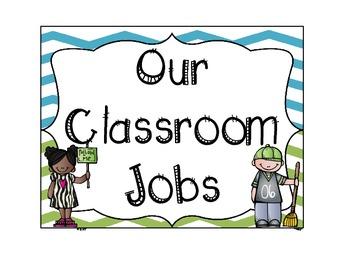 Chevron Student Job Chart