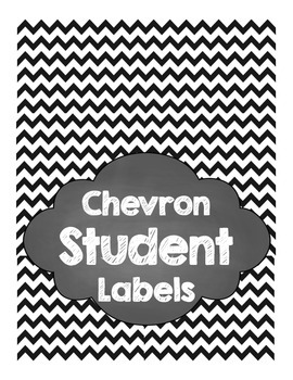 Chevron Student Labels