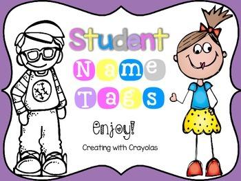 Chevron Student Name Tags
