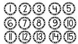 Chevron Student Number Circles
