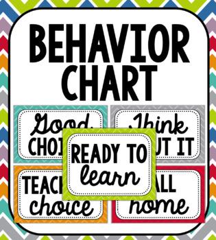 Chevron-Style Student Behavior Clip Chart: Includes Editable Version!