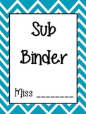 Chevron Sub Binder - editable