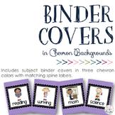 Subject Binder Covers: Chevron