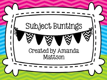 Chevron Subject Buntings/Banners