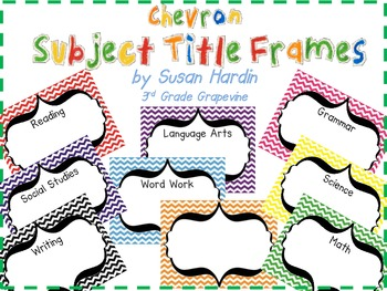 Chevron Subject Title Frames