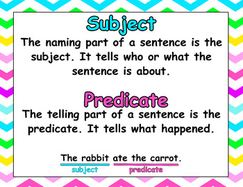 Chevron Subject and Predicate Poster