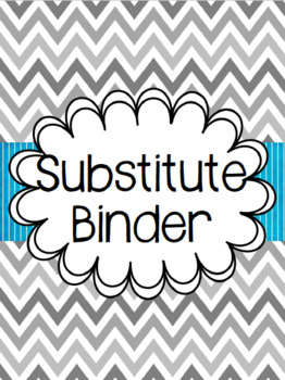 Chevron Substitute Binder - Editable