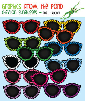 Chevron Sunglasses - Clipart for Teachers