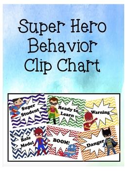 Chevron Superhero Behavior Clip Chart