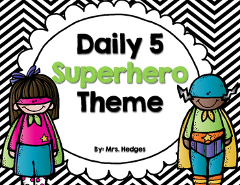 Chevron & Superhero Daily 5 Set