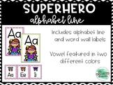 Chevron Superhero Word Wall Labels