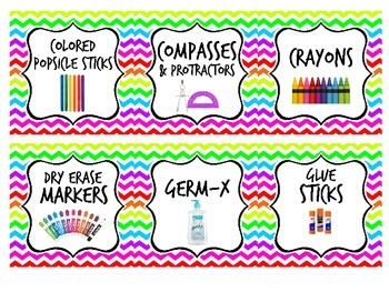 Chevron Supply Labels {RESIZABLE}
