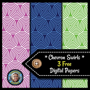 Chevron Swirls - 3 FREE Digital Papers {Commercial & Personal Use}